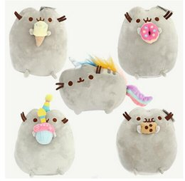 "Wholesale Dolls Sales - 2016 Hot Sale 5 style 9"" 23cm Pusheen Cookie & Icecream & Doughnut Rainbow cat Plush Doll Stuffed Animals Toys For Child Gifts"