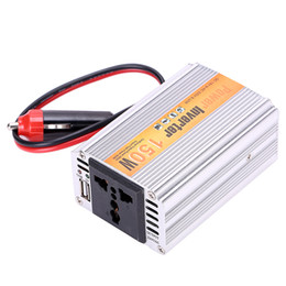 Wholesale portable ac inverter - Wholesale- 150W Portable Car Power Inverter Adapater Charger Converter Transformer DC 12V to AC 220V Free Shipping