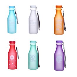Wholesale Clear Plastic Drinking Cups - Wholesale- My 500ml Water Bottle Fashion Sport My Clear Plastic Bottle Juice Readily Space Cup Water Bottle BPA Free