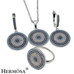 Insiemi dei monili di Bling argento naturale della pietra preziosa dello zaffiro dell'onyx bella collana dell'orecchino degli orecchini della collana della pietra di origine 8 da imitazione gioielli reali fornitori