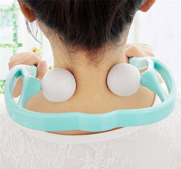 Wholesale Infrared Waist - Body Neck Massager Shoulder Back Waist Massage Blue Color Relaxation Beauty Health Tool
