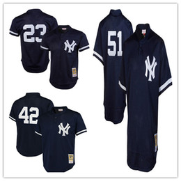 Wholesale Men s New York Yankees Don Mattingly Mitchell Ness Navy Authentic Cooperstown Collection Mesh Batting Practice Embroidery Jerseys