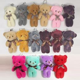 Wholesale Random Bear - kawaii Teddy Bear Doll Plush Stuffed Keychain Toy Bag Pendant Cute Mini Doll 11-13CM Toys For Children Gift Random Color