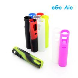 Wholesale Joyetech Cases - Protective Silicone Sleeve Case for Joyetech eGo AIO Kit Silicone Cover Cases 50pcs lot Free Shipping