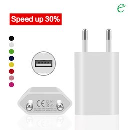 Wholesale Usb 5v 1a Eu - Factory Sales EU US Plug I4 USB Travel Charger Wall Charger 5V 1A for Iphone samsung galaxy S6 S7 note tablet LG Android