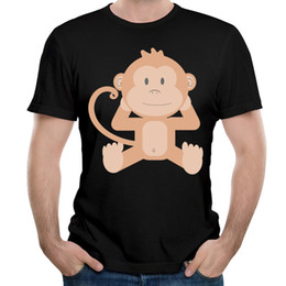 Wholesale Monkey Design Clothing - New Monkey Print T-shirt For Men Tops Fashion Animal Design Funny Tee Shirts Short Sleeve Crew Neck Tops Men's Shirts Clothing
