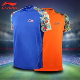 Wholesale Chinese Shirts Women - Li-Ning Men WOMEN Table Tennis Shirt Sport Jersey China Totem Clouds Printing Badminton Clothing Set Ma Long Zhang Jike Chinese Team Tennis
