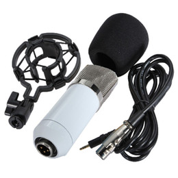 Wholesale Microphone Mounts - 5 Color BM700 Dynamic Condenser Wired Microphone Mic Sound Studio for Recording Kit KTV Karaoke with Shock Mount