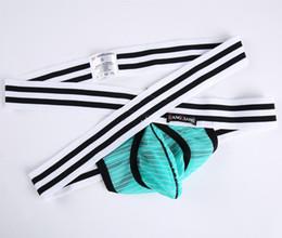 Wholesale Male Sleepwear Underwear - Brand Jockstrap Sexy Transparent Gay lingerie male thong underwear Mesh sexy men underwear Penis Nylon U Convex Underpants Sheer Sleepwear