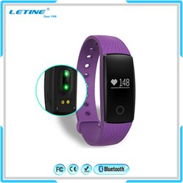 Wholesale Orange Bluetooth - Fitbit Smart Watch ID107 Bluetooth 4.0 Smart Bracelet with Heart Rate Monitor Fitness Tracker Sports Wrist Watches for Android IOS Phone