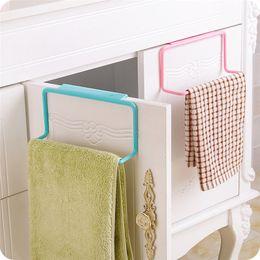 Wholesale Drop Hangers - New Towel Rack Hanging Holder Organizer Bathroom Kitchen Cabinet Cupboard Hanger back door hang racks drop shipping