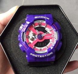 Wholesale Shockproof Watches - Wholesale Cheap Ga 110 sports men watches Led Digital Shockproof running g110 male wristwatch Autolight