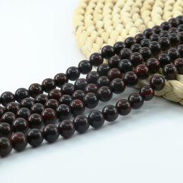 Wholesale Gemstones Beads China - Natural Polished China Poppy Jasper Round Jewelry Making Gemstone Beads 4 6 8 10mm Full Strand 15 inch L0573#