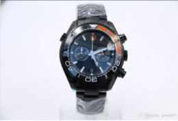 Wholesale Apollo Stainless Steel - 8 Styles 44MM Cool Black Quartz Mens Wristwatches With Masculine And Cold Feeling The Crew of Apollo 8 Watches Moon Watch Ceramic Bezel