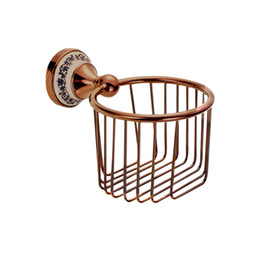 Wholesale Toilet Paper Print - Wall Mounted chrome Crystal Brass Finish Bathroom Accessories Toilet Paper Holder sets printing toilet roll holder