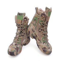 Wholesale Top Military Desert Boots - New Arrive Men Military Tactical Boots Outdoor Sport Army Combat Boots Desert Hiking Camouflage High-top Boots Free Shipping