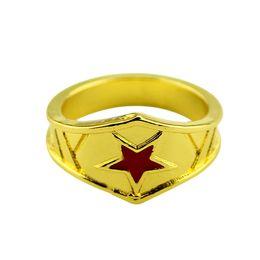 Wholesale Engage Rings - Wonder Woman Stacking Ring Super Hero 3D Wonder Woman Logo Geeky Engaged Ring,Girl Power Diana Prince Ring Jewelry