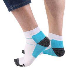 Wholesale Sweat Absorbing Spandex - Unisex Men Women Foot Compression Socks Absorb Sweat For Plantar Fasciitis Heel Spurs Pain Sock