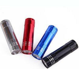 Wholesale Uv Led Box - Portable 9 CREE LED UV Light Flashlight Hiking Torchlight Aluminium Alloy Money Detecting LED UV Lamp Light with Box