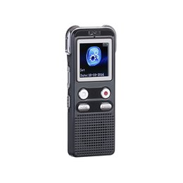 record tracks Promo Codes - Wholesale- Professional Stereo Digital Voice Recorder 8GB MP3 Player with speaker one-key recording real dual track voice recorder