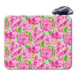 Wholesale Anti Skid Mats - Latest Lilly Pulitzer Seashell multi-color print anti-skid custom mouse pad computer PC Nice game Mouse mat as a gift