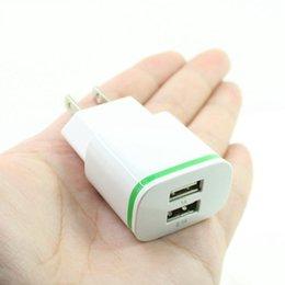 сотовый телефон для apple Скидка Dual USB LED Light Зарядное устройство 5V 2.1A Зарядное устройство для путешествий и дома США ЕС Plug для iphone Samsung Сотовый телефон