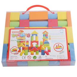 blocos de construção do castelo de brinquedo de plástico Desconto Atacado-Hot cores misturadas EVA Puzzle Building Toy Para Crianças Crianças Educacionais brinquedos educativos presentes de Natal para crianças criança A676
