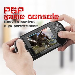 Wholesale Mini Mp3 Mp4 Player - PAP Gameta II 2 Handheld Game Consoles Portable 64 Bit Mini Video Games Players HD TFT 4GB Support TV Out MP3 MP4 MP5 Camera Record FC