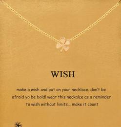Canada Avec carte! Adorable collier Dogeared avec pendentif trèfle à quatre feuilles (souhait), noble et délicat, sans fade, livraison gratuite et haute qualité Offre