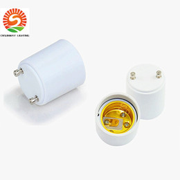 Wholesale E27 Base Holder - GU24 to E27 lamp base holder socket adapter,GU24 male to E27 female converter for led bulbs