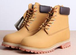 Argentina Venta al por mayor envío gratis botas de nieve de invierno marca de cuero genuino de los hombres botas impermeables al aire libre botas de cuero de vaca zapatos de ocio botas de tobillo cheap cow shoes for men Suministro