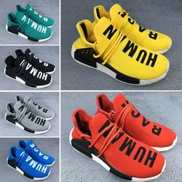 Wholesale Mens Discounted Tennis Sneakers - 2017 New Human Race Pharrell Williams X NMD Sports Running Shoes,discount Cheap top Athletic mens Outdoor Boost Training Sneaker Shoes