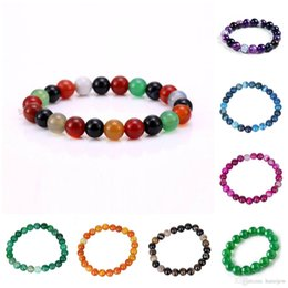 Wholesale Cheap Natural Stone Beads - Bead Bracelet Indian Jewelry Cheap Personalized Real Agate Charm Beaded Bracelets Lot Luxury Famous Brand Infinity Natural Stone Bracelet