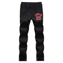 Wholesale Full Bull - Wholesale- Marilyn Monroe bulls 23 Autumn And Winter men printed custom design Male fleece casual pants Black and gray