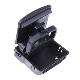 Wholesale Vw Golf Cup Holder - 2017 1pcs Black Central Console Armrest Rear Cup Holder For VW Jetta MK5 Golf MK5 MK6