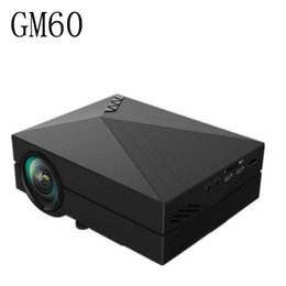 Wholesale outdoor education - Wholesale- 2016 Newest Original Pocket GM60 Mini LCD Projector 1000Lm 800 x 480 Pixels 1080P HD Proyector For Home OUTDOOR Theater Cinema