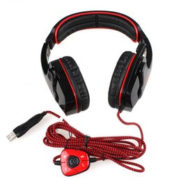 Wholesale Remote Computer Control - USB Interface SADES SA-901 Surround Sound Gaming Headset With Mic Remote Control Stereo Bass Earphone for PC Gamer