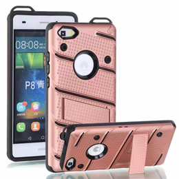Wholesale armor pc case - Hybrid Armor Case Soft TPU PC Kickstand Shell Shockproof Cases Cover For iPhone X 8 7 6 6S plus 5 5s Sumsung Note8 S8 S7 Plus Huawei