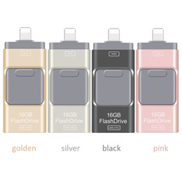 Wholesale Phone Pens - usb flash drives 3.0 For iPhone 7 Plus 6 5S ipad Android phone pen drive Metal OTG 16GB 32BG 64GB Pen drive