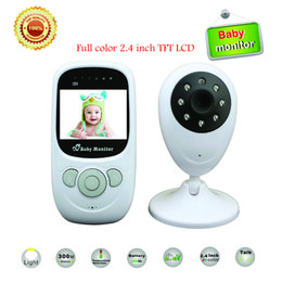 Wholesale Tft Led Color Monitor - Wholesale- Best 2.4 inch TFT LCD Wireless Digital video Baby Monitor Night Vision IR LED Temperature Monitoring Security Camera 2 Way Talk