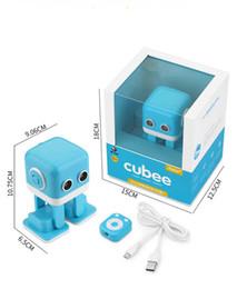 Wholesale Talking Dance Toys - RC Cubee Intelligent Robot Remote Control Smart Robots Walk Slide Dance Music Talk Demostration Interactive Inductive Education Toys