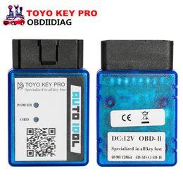 Wholesale obd ii programmer - TOYO KEY PRO OBD II Auto Key Programmer For Toyota 40 80 128 BIT (4D 4D-G 4D-H) All Key Lost (plug-and-play)