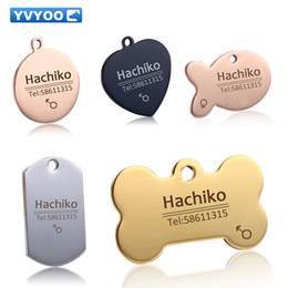 Wholesale Free Thanksgiving Decorations - Free engraving Pet Dog cat collar accessories Decoration Pet ID Dog Tags Collars stainless steel cat tag customized tag