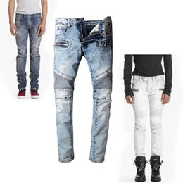 Wholesale Jeans Sizes 28 - 2017 fasishon jerry stores designer brand Bal jeans collection locomotive washing motorcycle jeans for men biker denim jeans size 28-42