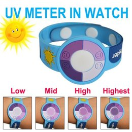 Wholesale Test Measurement - Uv Test Gift UV Bracelet Watch to Test the Ultraviolet Rays Uv Tester Best Gift to Skin Protect