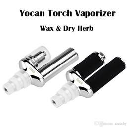 Wholesale Dual Nail Kit - New 2016 AUthentic Yocan Torch Portable eNail Vaporizer Kit Wax dry herb vape Pen Quartz Dual Coil Herbal vapor vapor Nail bong Kits