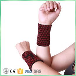 Wholesale Nano Belt - 2pcs Nano Tourmaline Elastic Magnetic Protective Sports Wrist Support wrist belt