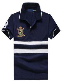 Moderner amerikanischer Entwurfs-Sommer-neue Mann-beiläufige Polo-Hemd-Baumwollmänner Freizeit-klassische Polo-Hemd-Oberseiten geben Verschiffen frei von Fabrikanten