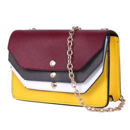 Wholesale Chains For Low Price - 2017 new fashion wave Korean version of the wild Messenger bag shoulder bag mixed color low price for sale
