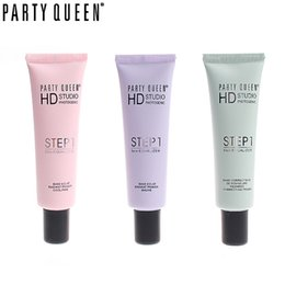 Wholesale Oil Queen Full - Wholesale- PARTY QUEEN Face Smooth Base Primer Foundation Brighten Dull Skin Correcting Pore Concealer Makeup Oil Free Matte Face Primer